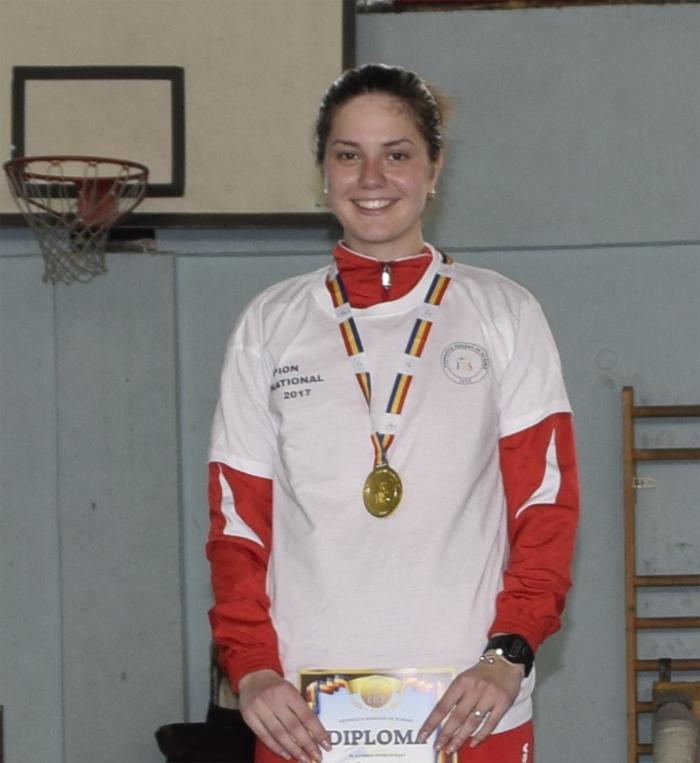 Amalia Tătăran, campioană națională la spadă tineret