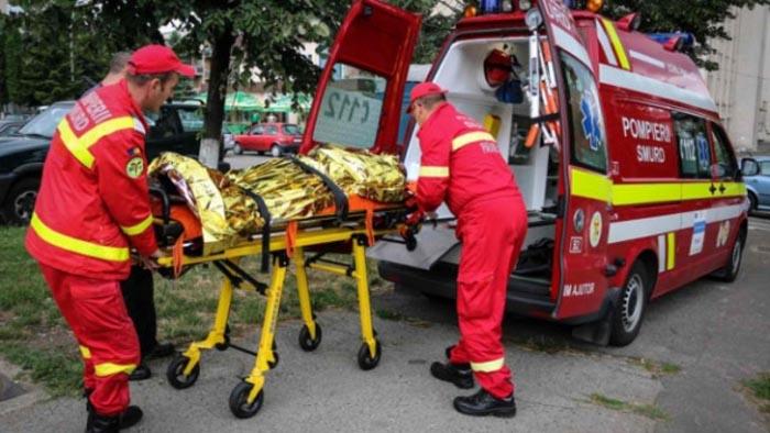 Bărbatul care și-a dat foc a murit