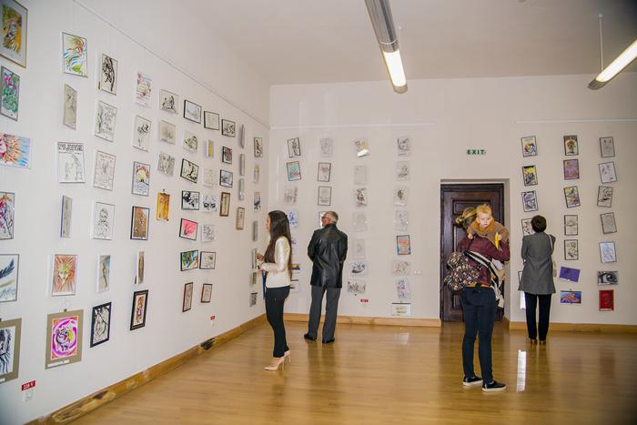 """Vernisajul expoziției caritabile de desene """"365"""", la Castelul din Carei (Foto)"""