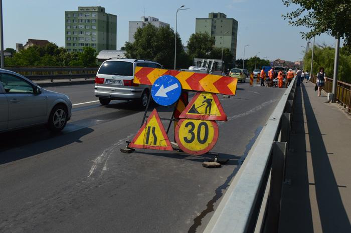 Incepe nebunia ! Restrictii de circulatie pe Podul Decebal