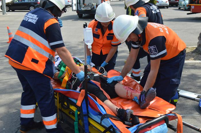 Accident grav. O femeie transportată la Urgențe (Foto&video)