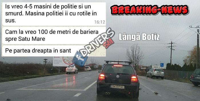 Polițiști sătmăreni, implicați într-un accident rutier. Ce spune conducerea IPJ