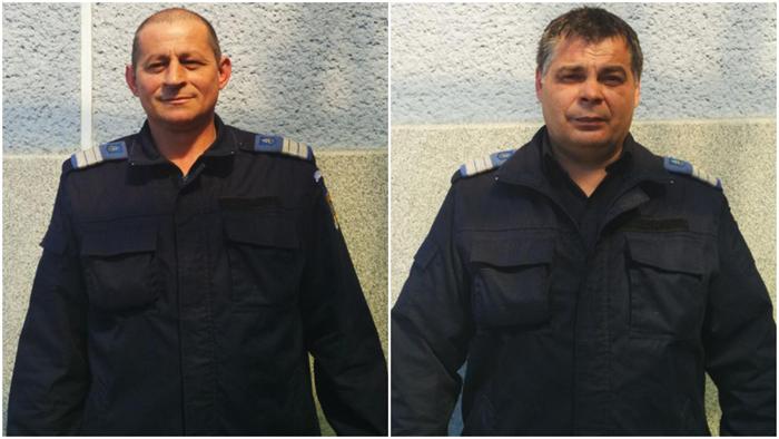 Doi jandarmi au intervenit la un incendiu. Au salvat viața unui om ! (Foto)