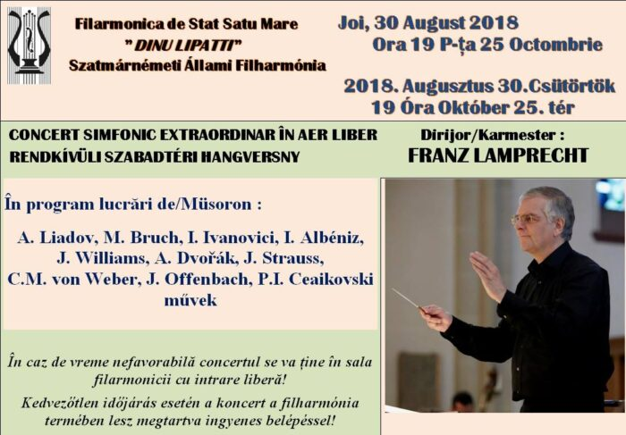 Concert in aer liber in Piata 25 Octombrie