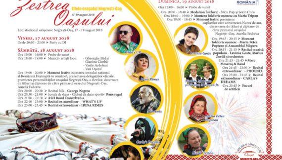 Phoenix, Carla's Dreams, What`s UP și Irina Rimes concertează la Zilele Orașului Negrești-Oaș