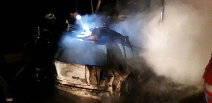 Accident mortal în județ. Șofer găsit carbonizat