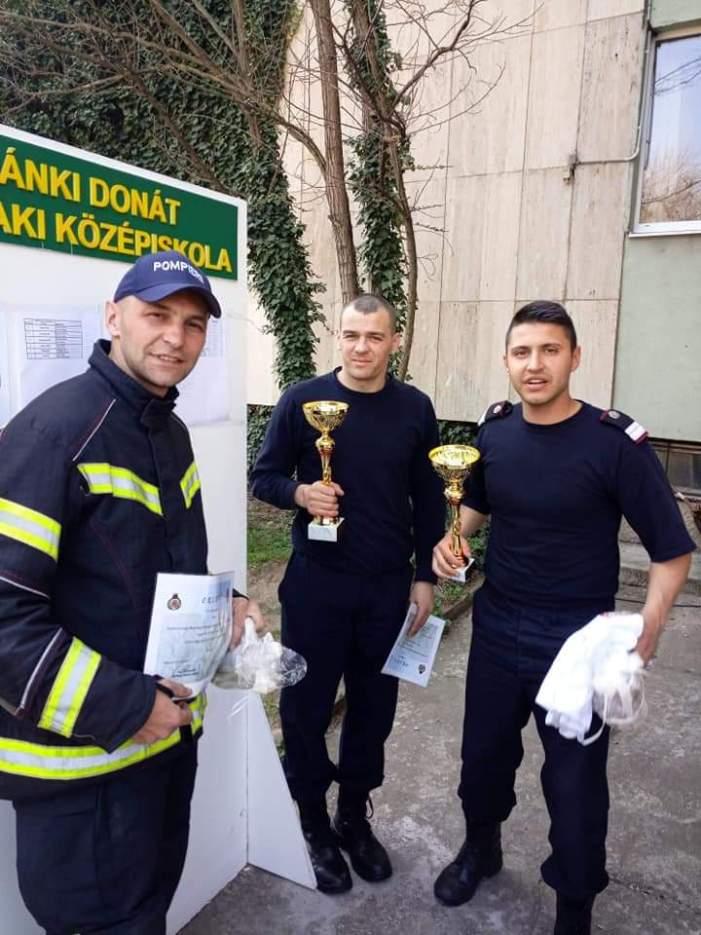 Bogdan, Marian și Olimpiu – pompieri sătmăreni pe podium (Foto)