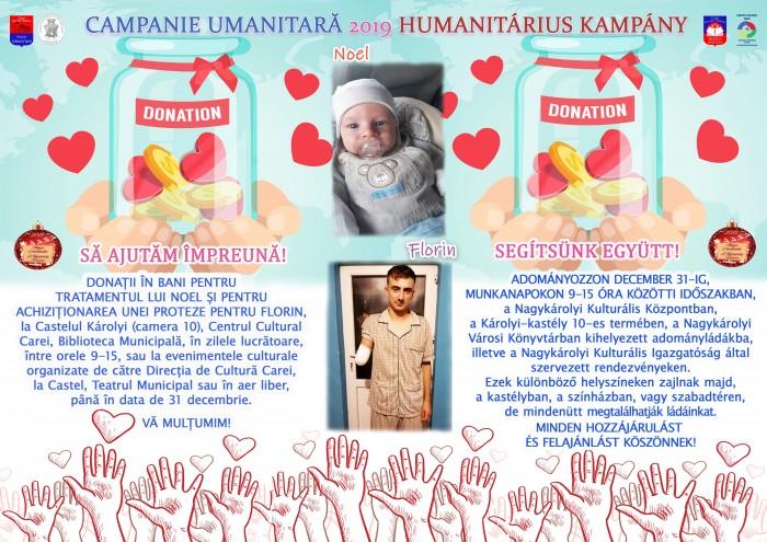 Haideți să îi ajutăm. Campanie umanitară pentru Noel și Florin