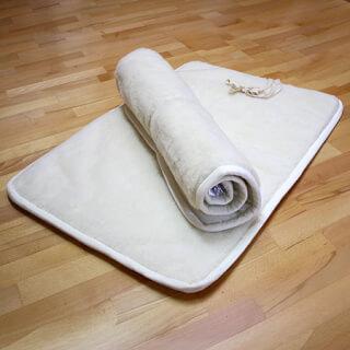 tapis de yoga sat nam naturel court anti glissant 70 x 100 cm