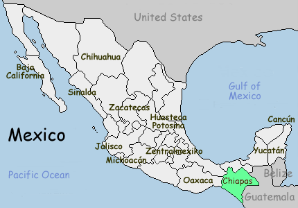 Karte-Chiapas-Mexiko