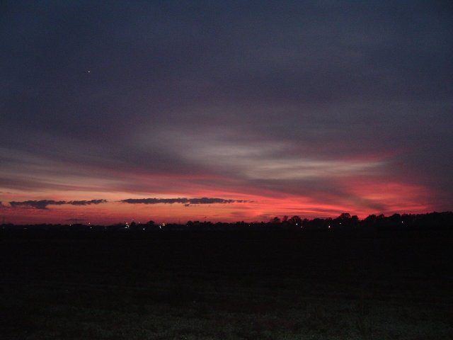 An ominous dusk