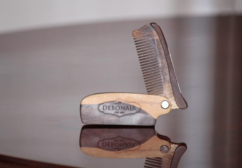 Debonair For Men Handcrafted Flip Beard Comb
