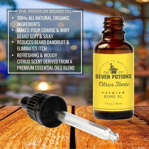 Seven Potions 'Citrus Tonic' Premium Beard Oil