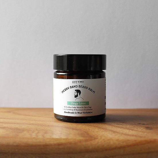 Merry Band Beard Oil 'Zingy Lime' Beard Balm