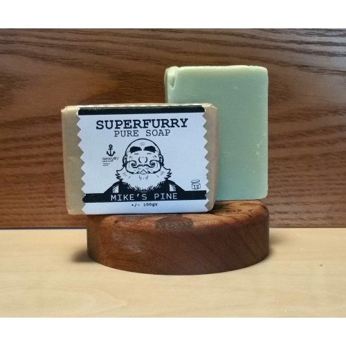 Superfurry 'Mike's Pine' Green Soap Bar