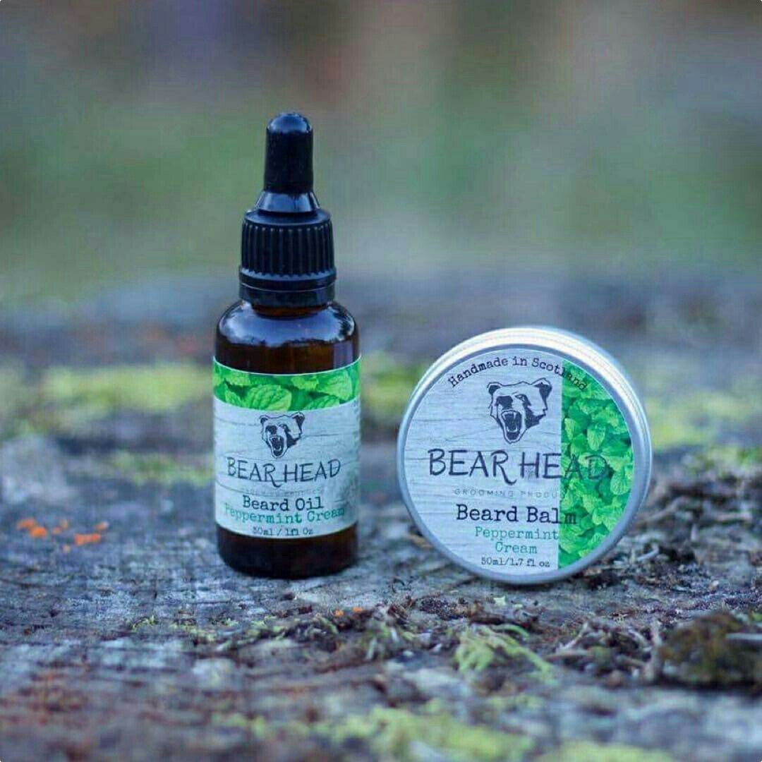 review bear head grooming products 39 peppermint cream 39 beard oil sat on my butt. Black Bedroom Furniture Sets. Home Design Ideas