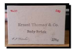 Ernest Thomas & Co Body Brick Soap