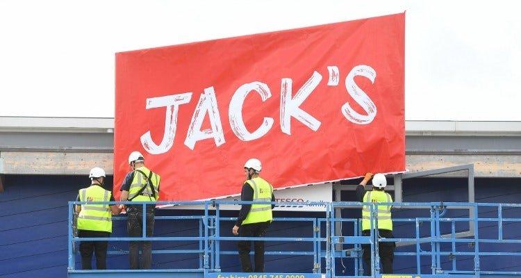 Jacks Tesco's new discount supermarket