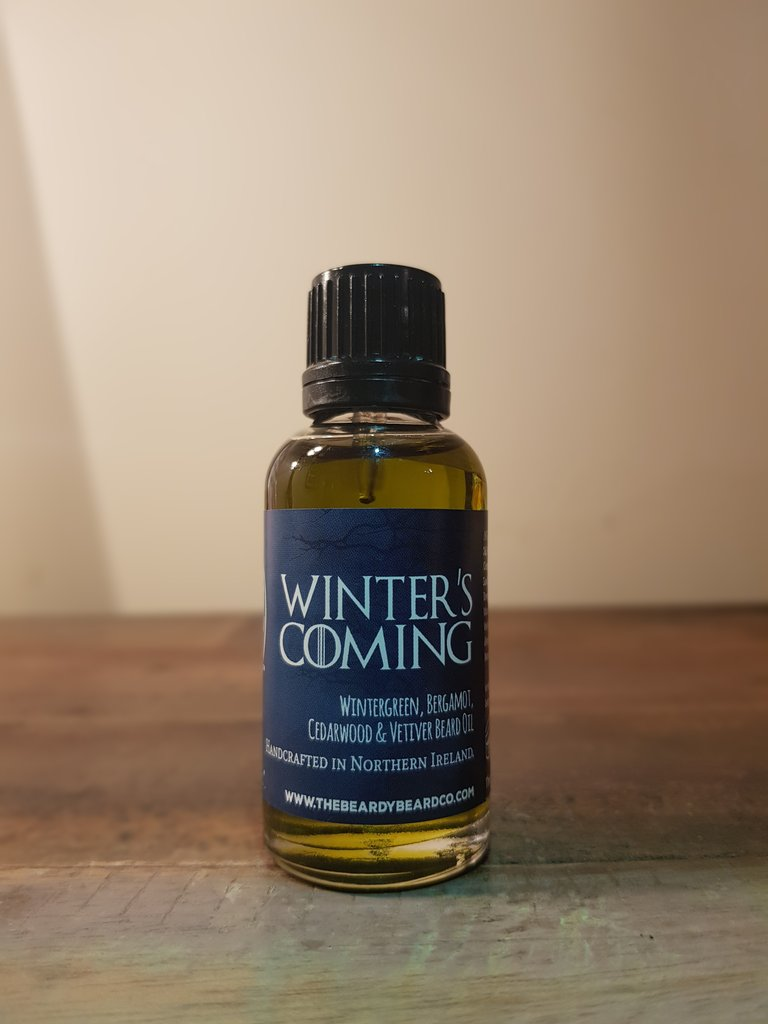 Review of The Beardy Beard Co Winter's Coming Beard Oil