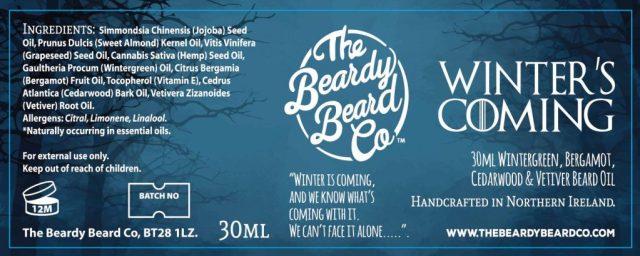 The Beardy Beard Co Winter's Coming