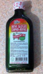 methyl salicylate camphor and menthol