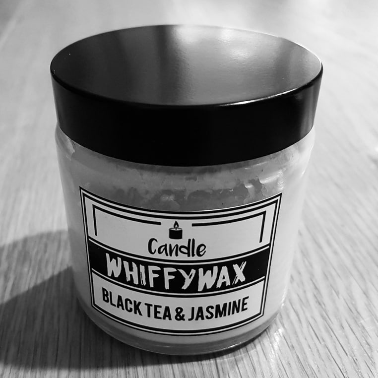 Review of the Whiffy Wax Black Tea & Jasmine Soy Wax Candle