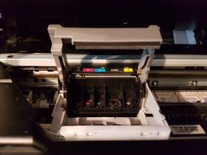 Canon printer head removal