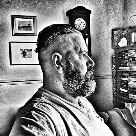 Man, short beard, over 50