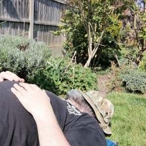 Me having a nap in the garden