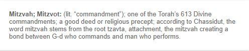 Description of what a Mitzvah is