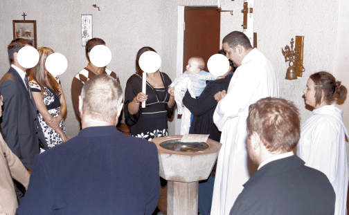 2008, I am stood wearing a white Alb and I have no no beard, I am baptising a baby and stood at the font with the family gathered around. It seems like a different lifetime