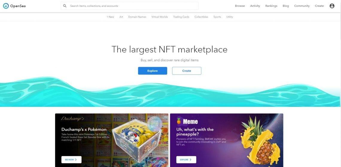 OpenSea سوق NFT
