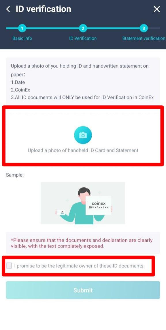 شرح طريقة توثيق حسابك على CoinEX بجواز السفر خطوة بخطوة