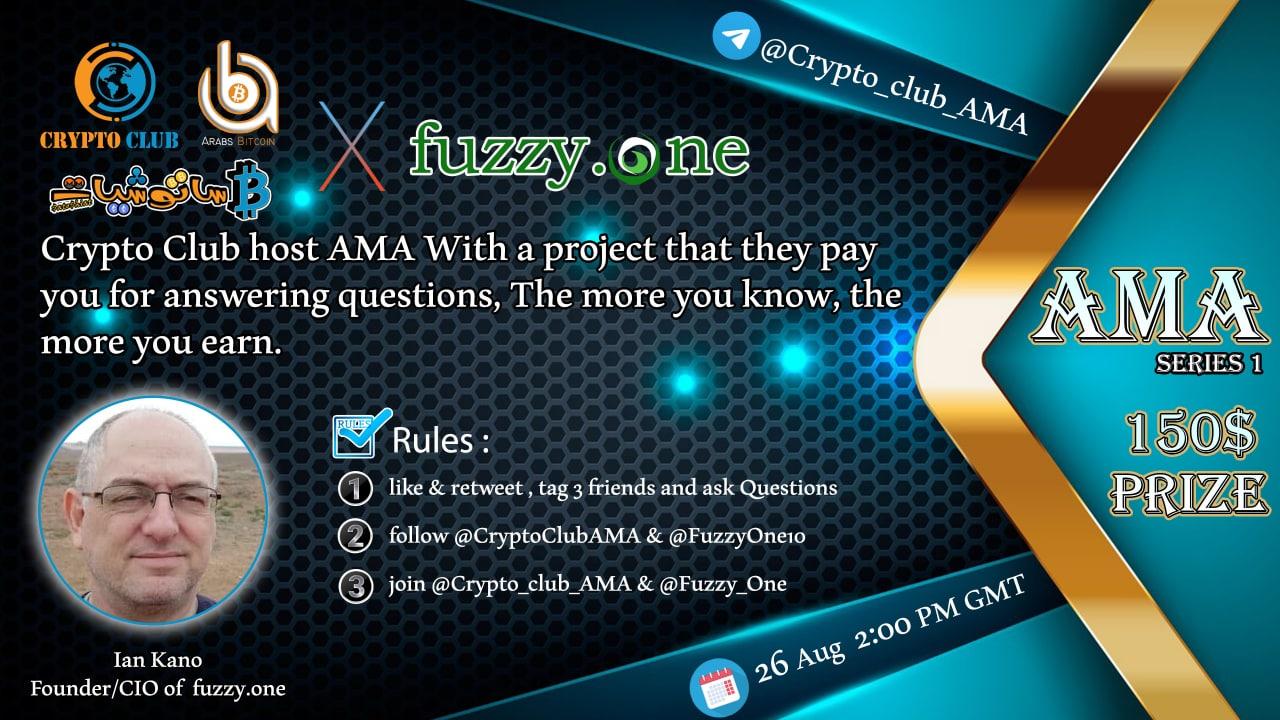 ملخص استضافة Crypto Club ل FUZZY.One في جلسة AMA
