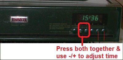 clock or set time on stoves oven