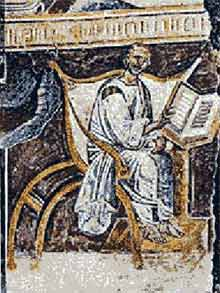 A 6th C. portrait of St. Augustine, from St. John Lateran