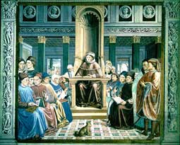 Augustine teaching in Rome, by Gozzoli