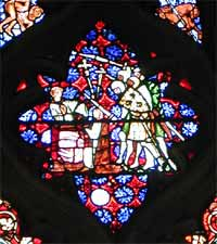 Picture of stained glass from Christ Church Cathedral
