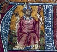 Robert Grosseteste, from an illuminated manuscript