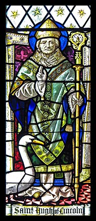 Hugh of Lincoln, stained glass