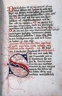 "page from illuminated ""Imitation of Christ"""