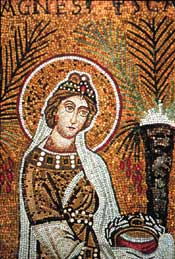 mosaic of St. Agnes