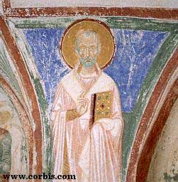 Midieval fresco of St. Nicholas