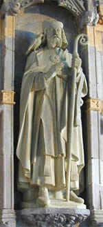 Statue of St. David, at St. David's Cathedral