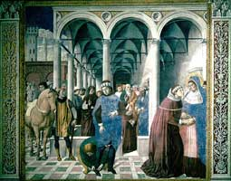 St. Augustine entering Milan, by Gozzoli