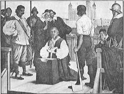 William Laud at his execution