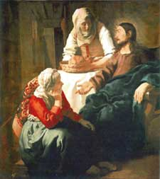 Christ with Martha & Mary, by Vermeer