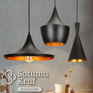 lampu gantung tembaga mewah dan modern