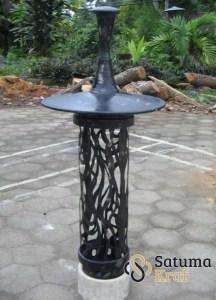 lampu taman tembaga tatah