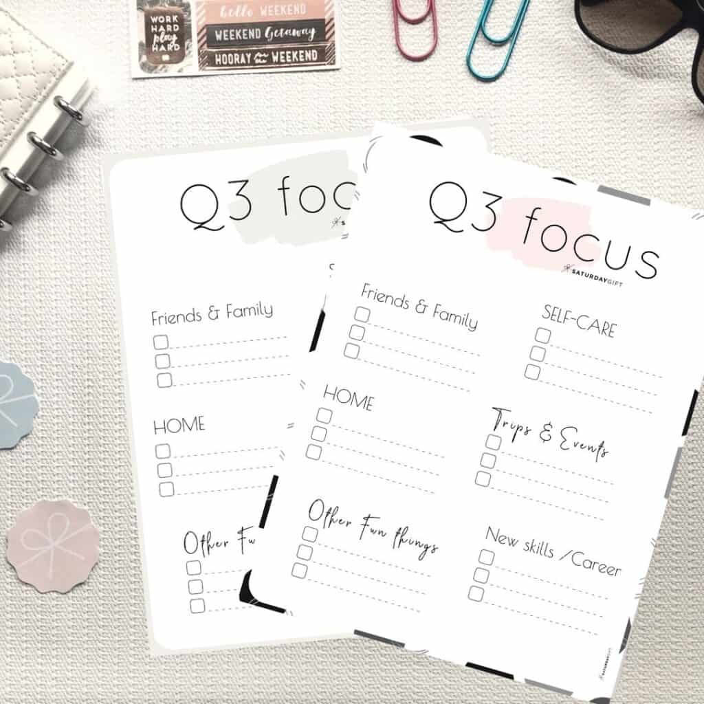 Write Down Quarter Three Plans And Goals Amp Stay Focused